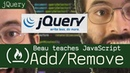 JQuery add and remove DOM elements Beau teaches JavaScript