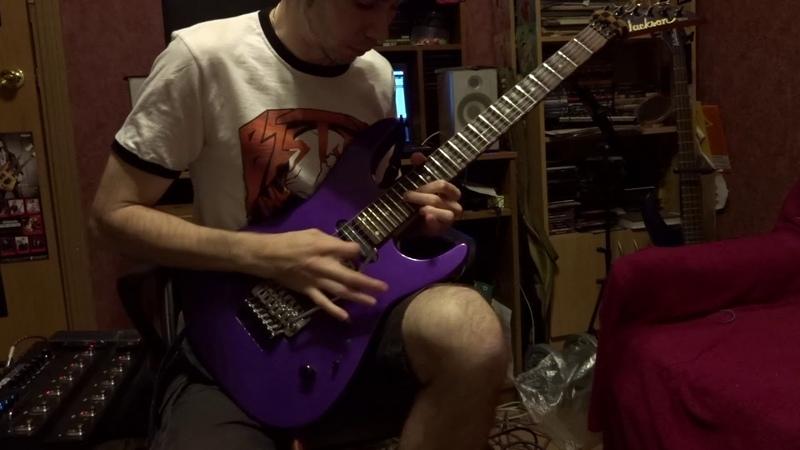Judas Priest Painkiller Guitar Solo Cover by Denis Shvarts