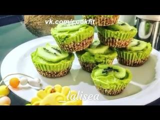 Капкейки с киви и авокадо