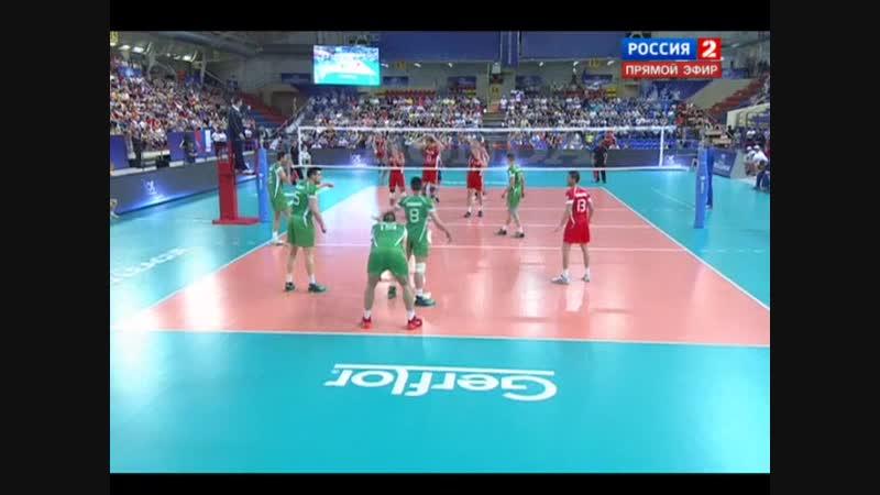 14.06.2014. 15:55 - Волейбол. Мировая лига. Россия - Болгария