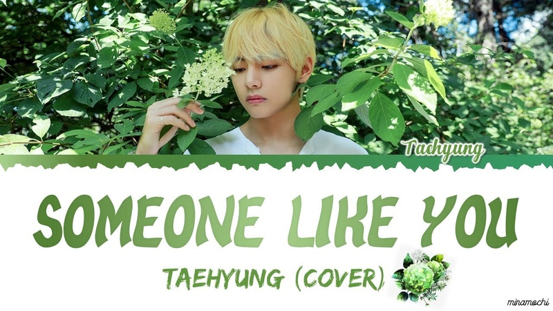 Taehyung 태형 - 'Someone Like You' (Cover) Lyrics |Eng/Kor| HAPPYVDAY