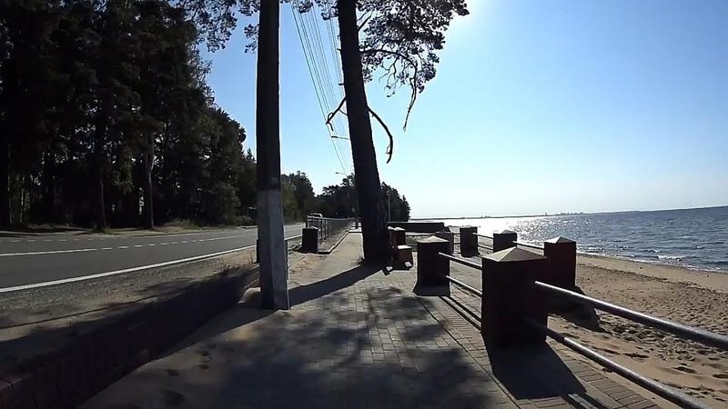 СПБ Зеленогорск Солнечное - Ласковый пляж, на велосипеде вдоль Финского залива