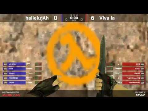 Гранд-финал турнира по CS 1.6 от проекта SFY [hallelujAh -vs- Viva La] @ by kn1fe /2map