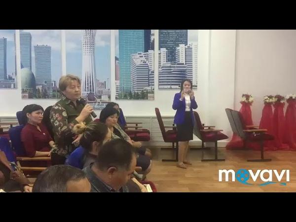 Пресс конференция с директором Средней школы гимназии имени Абая Сайбыровой Турсын Адильбековной