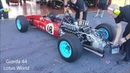 World Champion Ferrari F1 1964 John Surtees. Start Up and Fast Pass at Mugello Circuit