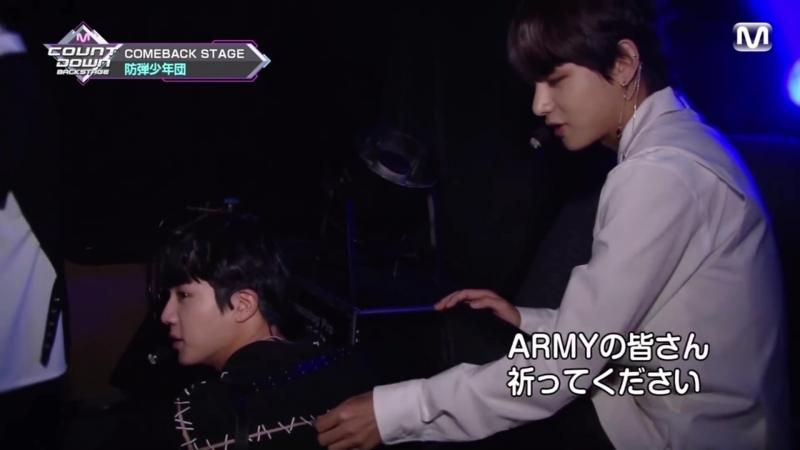 180617 mnet jpn mcountdown backstage BTS (5 31 broadcast)