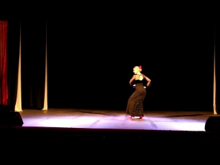 II Сибирский фестиваль фламенко iOle con Ole!. Студия фламенко «Flor de Suerte» фаррука (21.4.2018)