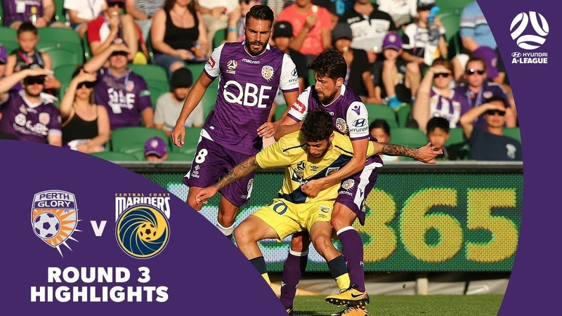 Hyundai A-League 201718 Round 3 Perth Glory 2 - 1 Central Coast Mariners