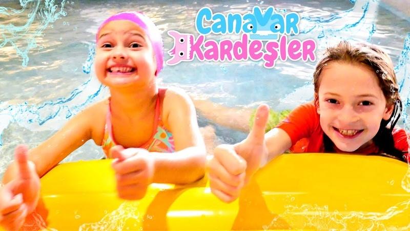 Oyun videosu çocuklar için. Canavar Kardeşler havuzda