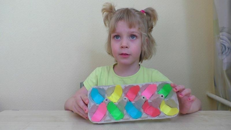 Игра на развитие мелкой моторики рук. Поделки для детей 3, 4, 5 лет своими руками.