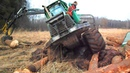 John Deere 810D stuck in deep mud