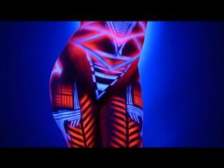 Hypnotic Neon Dancer - Blacklight Body Paint ( Сексуальная, Приват Ню, Private Модель, Nude 18+ )