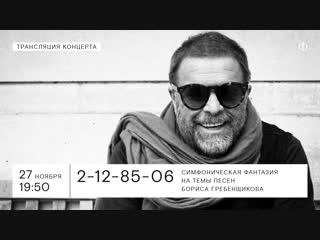 Трансляция концерта | Симфоническая фантазия на темы песен Бориса Гребенщикова
