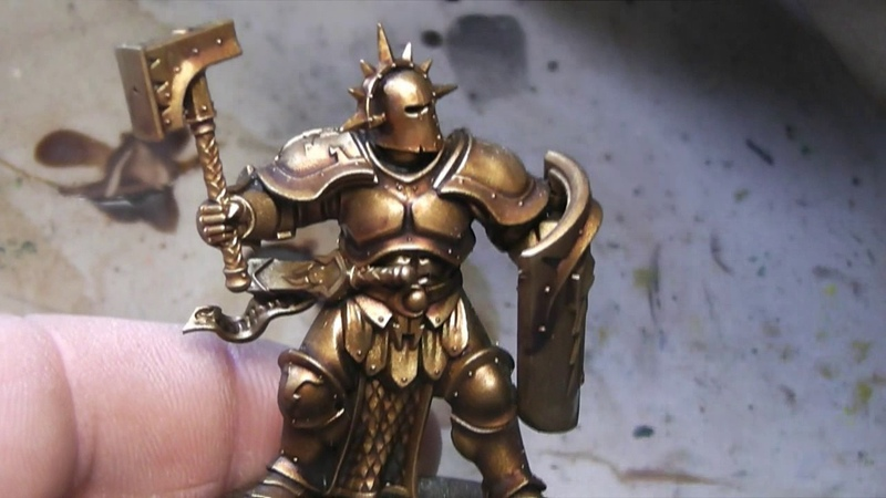 How to paint Gold Armor (Stormcast Eternals)