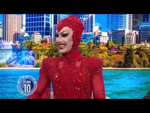 Drag Queen Sensation Sasha Velour Down Under   Studio 10