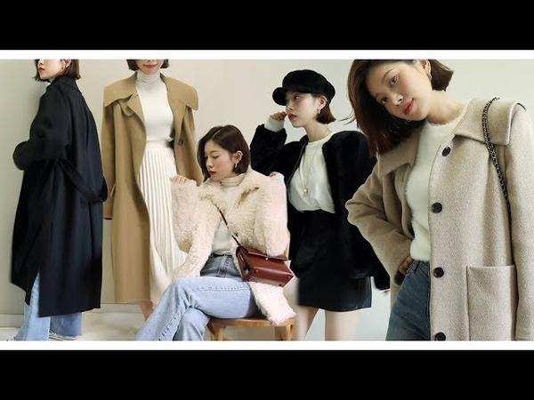 Eng/jpn) Winter Lookbook Haul / 나의 심플한 겨울 룩북과 하울