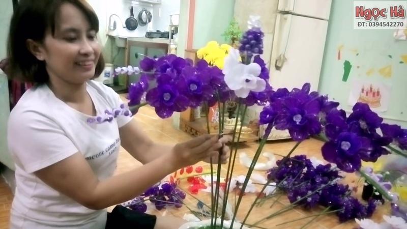Hướng dẫn cắm hoa lan cánh bắp cải lớn 3 tầng