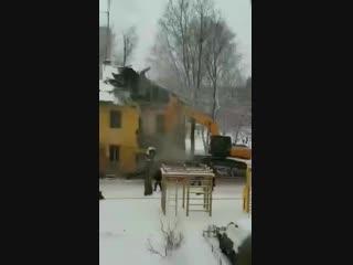 Снос ветхого жилья в Иванове, ул. Богдана Хмельницкого. 07.12.2018
