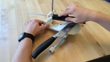 Using a 3D printed knife sharpening tool - available on Thingiverse