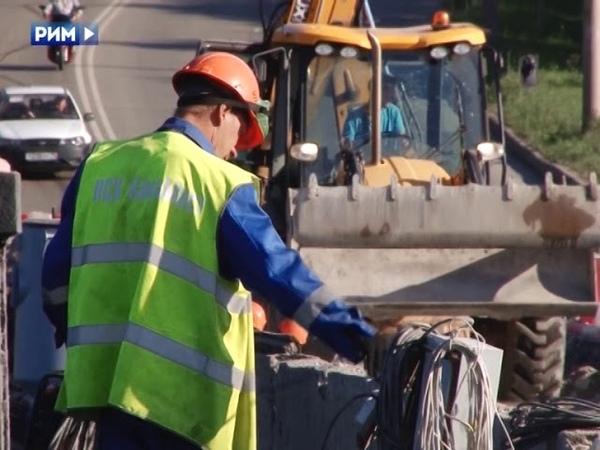 Нехватка автобусов из за ремонта моста Панорама 7 августа 2018