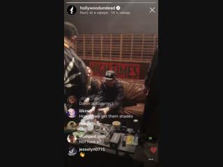 Hollywood Undead - трансляция в студии MDDN 19.12.18