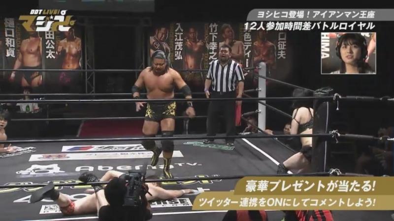DDT Iron Man Heavy Metal Title Gauntlet Battle Royal (DDT Live! Maji Manji 8)