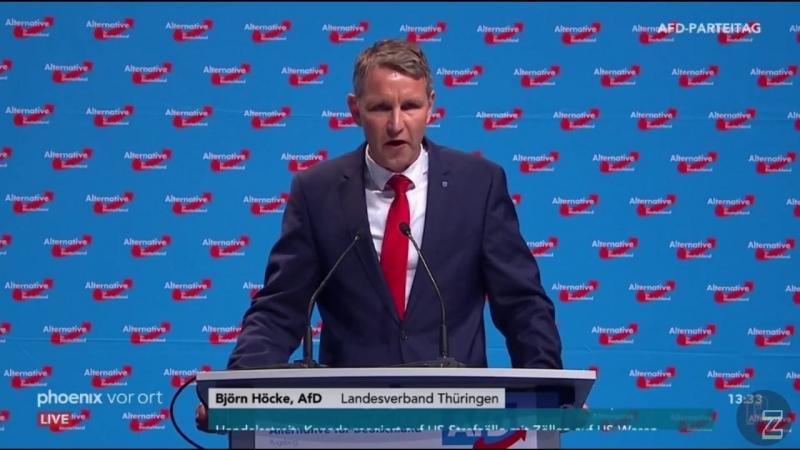 Rede von Björn Höcke beim 9 AfD Bundesparteitag in Augsburg 2018 30 06 2018 HD