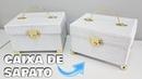 RECICLAGEM COM CAIXA DE SAPATO | 15 anos, casamento, presente e decoração | Viviane Magalhães