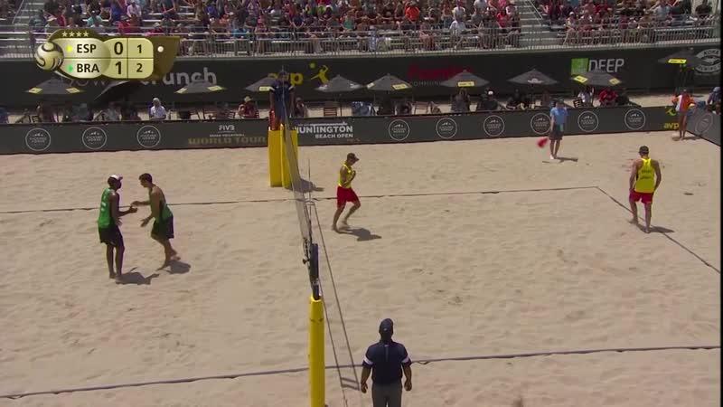 2018 FIVB Huntington Beach Open_ Evandro_Andre vs Herrera_Gavira - Mens Semifin