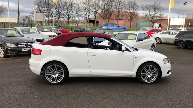 Audi A3 Cabriolet 1.6 TDI S Line 2dr convertible white red roof