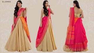 How To Drape Your Saree With A Lehenga | Silk Saree Hack!