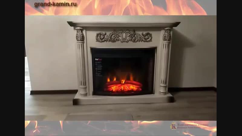Каминокомплект Salford 33 белый дуб с патиной с очагом Firespace 33 S IR от Real Flame