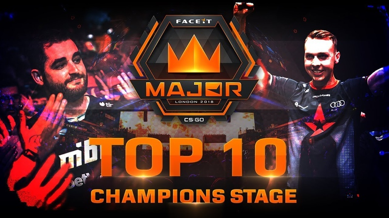TOP 10 Plays of Champions Stage feat. s1mple, Twistzz, Fallen! (FACEIT Major: London 2018)