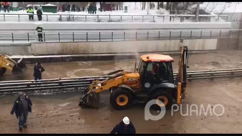 Тушинский тоннель затопило из-за провала грунта в шлюзе - РИАМО
