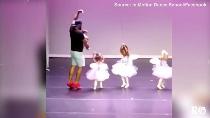 Marc Daniels joins in on his daughters dance (1)