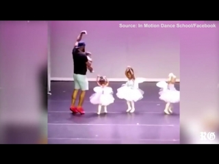Marc Daniels joins in on his daughters dance