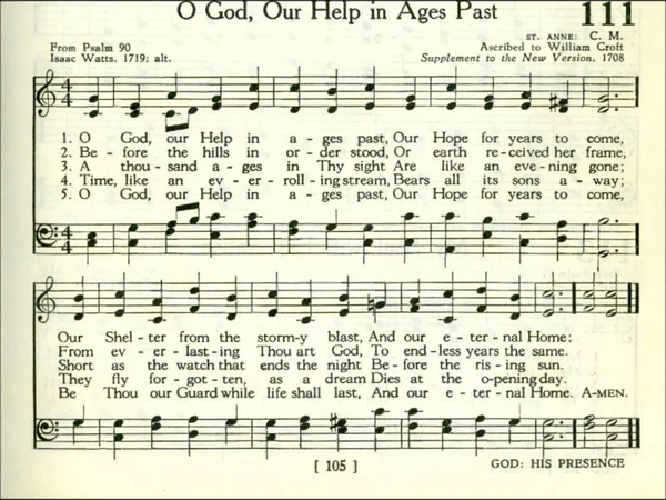 O God, Our Help in Ages Past (St. Anne)
