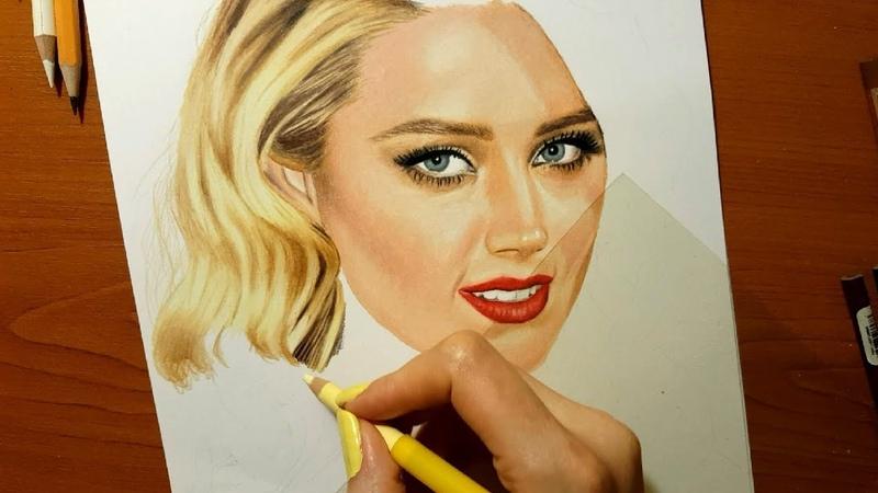 Real Time Drawing: Amber Heard | Jasmina Susak
