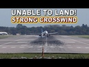 Airbus UNABLE TO LAND due to Strong Crosswind