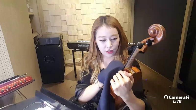 제니윤 바이올린 줄가는중 촬영현장공개 [Live]Im changing violin strings!
