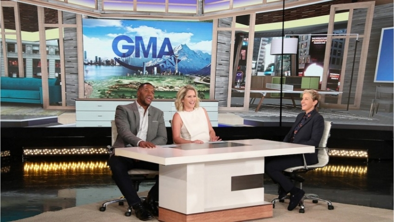 Ellen Lets GMA DAY Co-hosts Michael Strahan and Sara Haines Take Over Her Show