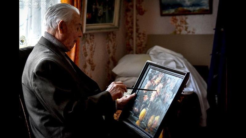 93 летний ветеран НКВД из Крыма нарисовал 146 картин планирует издать альбом и написать мемуары