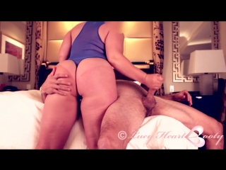 Booty play - big ass bbw butts masturbation handjob cum fetish мастурбирует член