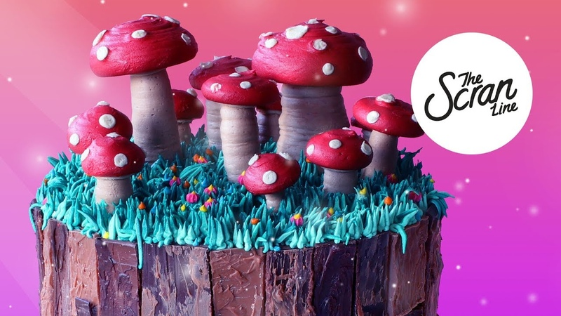 NO FONDANT Magic Mushroom Cake - The Scran Line