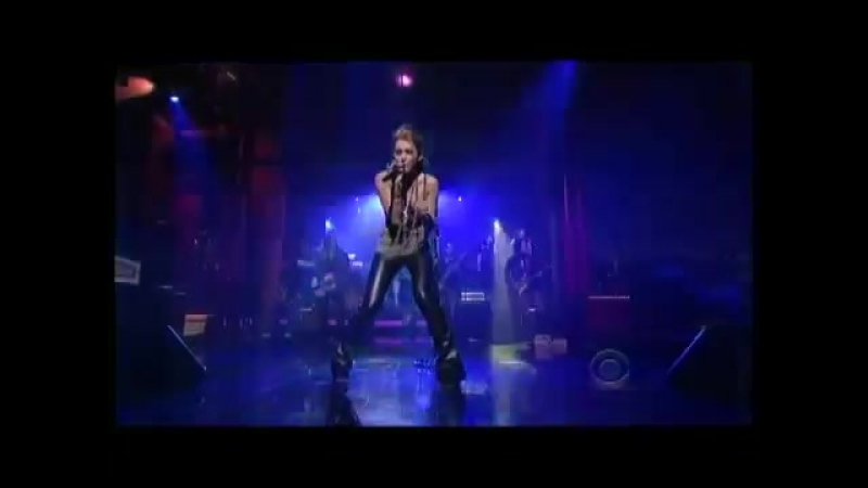 Miley Cyrus — Can't Be Tamed (Late Show with David Letterman)
