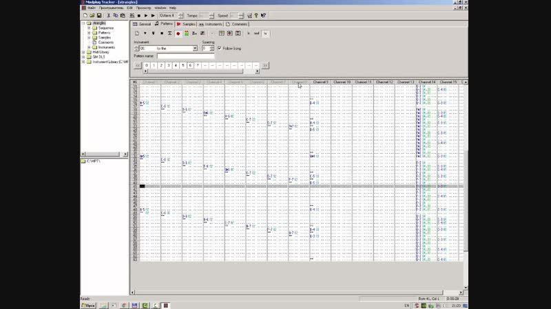Mod Plug Tracker - музыкальный редактор прошлого века
