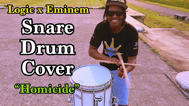 """Defying Physics W/ Logic x Eminem Snare Drum Cover """"Homicide"""