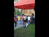 соло на скрипке группа Крематорий Омск парк на Королева