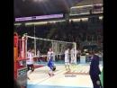 Первый темп от либеро сборной Франции - Евгения Гребенникова