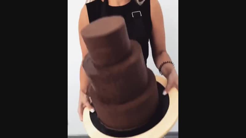 Бетонный ганаш на темном шоколаде